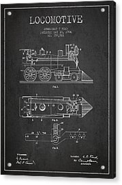 Vintage Locomotive Patent From 1904 Acrylic Print by Aged Pixel