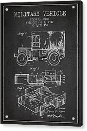 Vintage Military Vehicle Patent From 1942 Acrylic Print