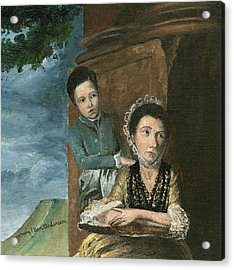 Acrylic Print featuring the painting Vintage Mother And Son by Mary Ellen Anderson