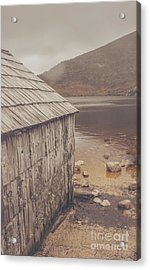Vintage Photo Of An Australian Boat Shed Acrylic Print by Jorgo Photography - Wall Art Gallery