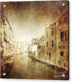 Vintage Photo Of Venetian Canal Acrylic Print by Evgeny Kuklev