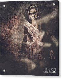 Vintage Photograph Of A Dead Zombie Prom Queen Acrylic Print by Jorgo Photography - Wall Art Gallery