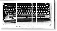 Vintage Typewriter Acrylic Print by Edward Fielding