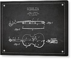 Vintage Violin Patent Drawing From 1928 Acrylic Print by Aged Pixel