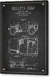 Vintage Willys Jeep Patent From 1942 Acrylic Print by Aged Pixel