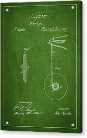 Vintage Yoyo Patent Drawing From 1867 Acrylic Print by Aged Pixel