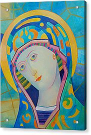 Virgin Mary Immaculate Conception. Religious Painting. Modern Catholic Icon Acrylic Print