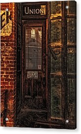 Virginia City Brewery Acrylic Print by Nancy Marie Ricketts