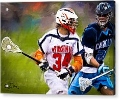 College Lacrosse 6 Acrylic Print by Scott Melby