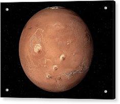 Volcanoes On Mars Acrylic Print