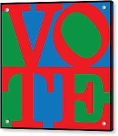 Vote Acrylic Print by Gary Grayson