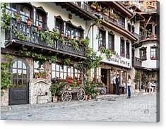 V.turnovo Old City Street View Acrylic Print