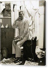 W. C. Fields Wearing Pyjamas Acrylic Print by Edward Steichen