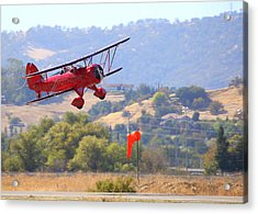 Acrylic Print featuring the photograph Waco Ymf Fly-by N685af by John King