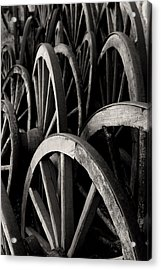 Wagon Wheels Acrylic Print by John Nelson