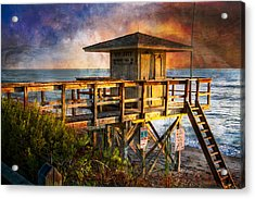 Waiting For Customers Acrylic Print by Debra and Dave Vanderlaan