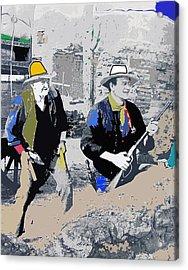 Walter Brennan And John Wayne Publicity Photo Rio Bravo Old Tucson Arizona 1959-2013 Acrylic Print by David Lee Guss