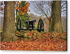 Acrylic Print featuring the photograph War Thunder - The Charlotte North Carolina Artillery Grahams Battery West Confederate Ave Gettysburg by Michael Mazaika