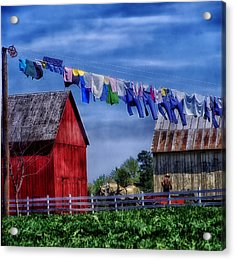 Wash Day Acrylic Print