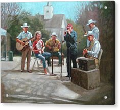 Washboard Music Acrylic Print by Janet McGrath