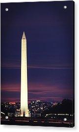 Acrylic Print featuring the photograph Washington Monument by Cindy Lark Hartman