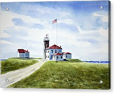 Watch Hill Ri Lighthouse Acrylic Print by Joan Hartenstein