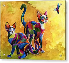 Watch The Birdie Acrylic Print by Sherry Shipley