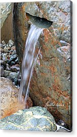 Water And Rocks II Acrylic Print