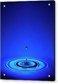 Water Drop Impact Acrylic Print