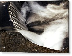 Water Flow Acrylic Print by Les Cunliffe