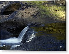 Water Flowing Acrylic Print by Les Cunliffe