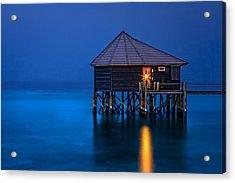 Water Villa In The Maldives Acrylic Print