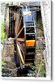 Acrylic Print featuring the photograph Water Wheel by Tara Potts