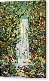 Waterfall Of Prosperity II Acrylic Print