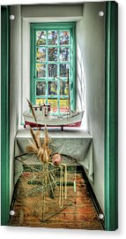 Acrylic Print featuring the photograph Watermans Window by Williams-Cairns Photography LLC