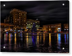 Wausau After Dark At Christmas Acrylic Print