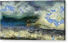 Wave Runner  Acrylic Print by Richard Worthington