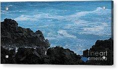 Wave - Vague - Ile De La Reunion - Reunion Island Acrylic Print by Francoise Leandre