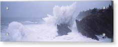 Waves Breaking On The Coast, Shore Acrylic Print by Panoramic Images