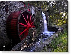 Wayside Inn Grist Mill Acrylic Print by Toby McGuire