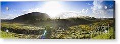 West Coast Range Landscape In Tasmania Australia Acrylic Print by Jorgo Photography - Wall Art Gallery