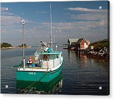 West Dover Evening Acrylic Print by George Cousins