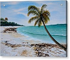 Acrylic Print featuring the painting West Of Zanzibar by Sher Nasser