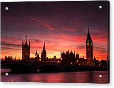 Westminster Sunset Acrylic Print