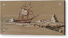 Whaler Ship Acrylic Print by Juan  Bosco