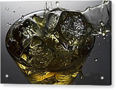 Acrylic Print featuring the digital art Whiskey Splash by John Hoey
