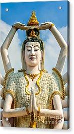 White Buddha Acrylic Print