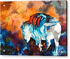 White Buffalo Ghost Acrylic Print