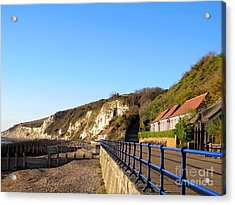White Cliffs Of Eastbourne Beachy Head Acrylic Print