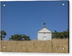 White Country Church Acrylic Print by David Litschel
